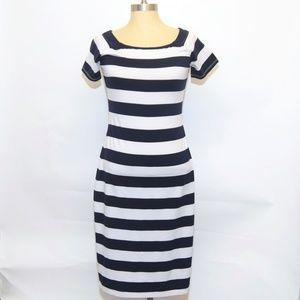 A/X Armani Stretch Navy Sailor Nautical Dress M